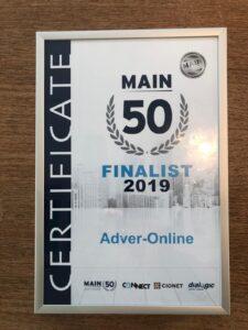 Main 50 nominatie Adver-Online HROffice