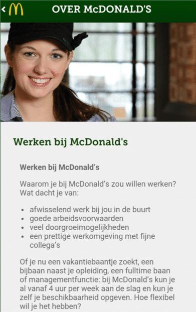 McDonald's app mobile recruitment